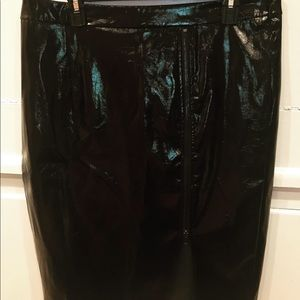 💎NWT Forever 21 Black Parent Leather Skirt SZ XL